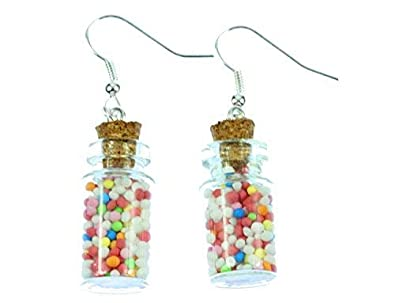 Colorées Verre Boucles Pot Perles De Miniblings Stock En D'oreilles L3j5RA4