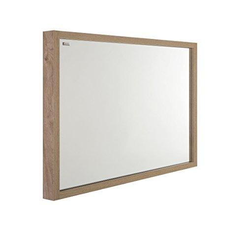 VALENZUELA Tino 32 Inch Bathroom Vanity Mirror, Wall Mount, Slim Frame, Oak Finish (VE7008080E) by DAX