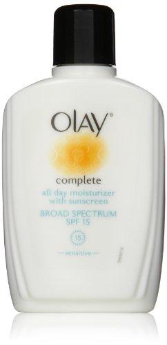 Olay Complete All Day Moisturizer с солнцезащитным кремом широкого спектра SPF 15 - Чувствительный, 6 эт. Оз., 2 Граф