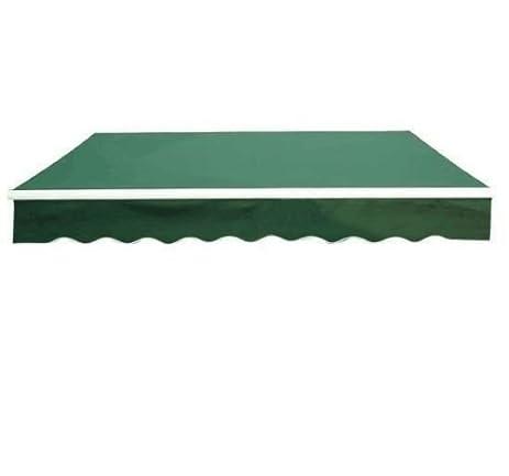 Nice Outsunny 10u0027 X 8u0027 Patio Manual Retractable Sun Shade Awning   Deep Green