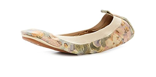 Yosi Samra Woman's Multi-color Floral Leather Ballet Flats Flat Shoes (7)