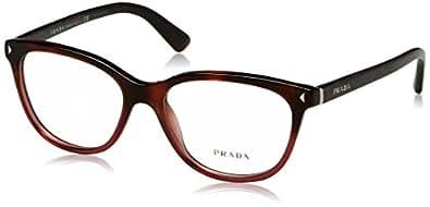 Prada JOURNAL PR14RV Eyeglass Frames TWC1O1-54 - Red Havana Gradient PR14RV-TWC1O1-54