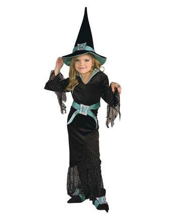 5th Avenue Diamond Witch Costume - Large (Black Widow Witch Costume)