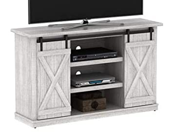 Amazon Com 60 Inch Tv Stand Sargent Oak Wood Sliding Barn Door