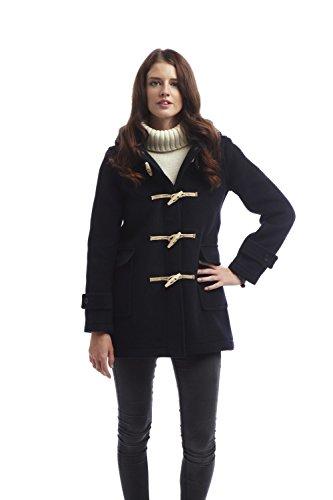 Original Montgomery Soho Elegance Duffle Coat Femme Bleu Marine