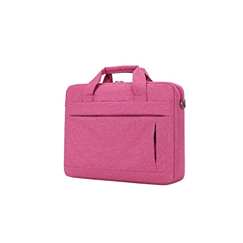 Large Capacity Laptop Handbag for Unisex Travel Briefcase Bussiness Notebook Bag,Rose Red 15Inch ()
