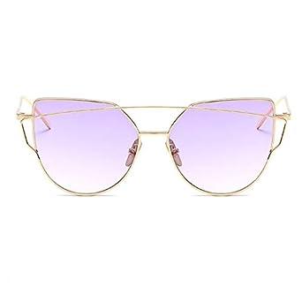 DongOJO Gafas de sol Mujer Espejo de ojos Rosa Moda Gafas de ...