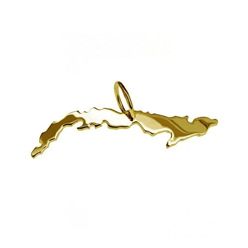 Cuba pendentif mixte en or 585 or jaune