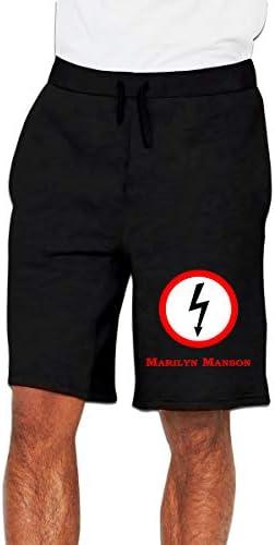 マリリン・マンソン Marilyn Manson ハーフパンツ ショートパンツ フィットネス スポーツ ランニング 吸汗速乾 ズボン カジュアル メンズ