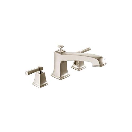 BOARDWALK 3H ROMAN TUB SRN / Spot resist brushed nickel two-handle roman tub - Roman Moen Rough Tub