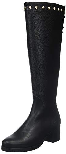 Boot Stud Hautes Long Bottes Femme Noir 990 Black Hilfiger Tommy Round qRxI1SwEZ