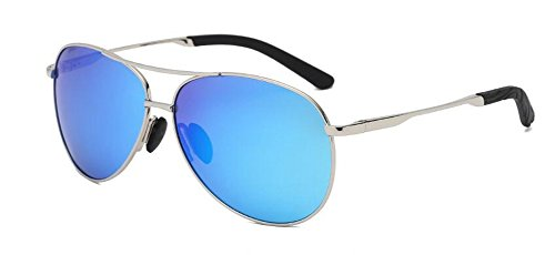 Bleue vintage métallique du Glace A polarisées Tablettes rond de Lennon inspirées en cercle soleil retro style de lunettes AqB0anwPx