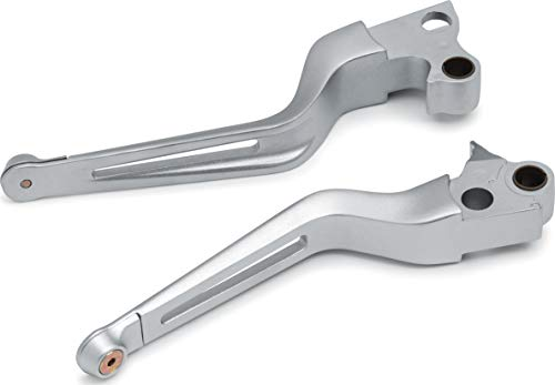 (Kuryakyn 6681 Motorcycle Handlebar Accessory: Dillinger Clutch and Brake Trigger Levers for 1996-2017 Harley-Davidson Motorcycles with Cable Clutch, Silver, 1 Pair)