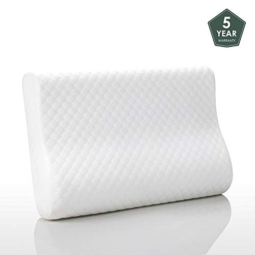 MEWE Memory Foam Pillow for Sleeping Orthopedic Neck Support Pillows for Sleeping Soft Tex Pillows ()