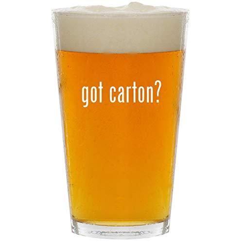 (got carton? - Glass 16oz Beer Pint)