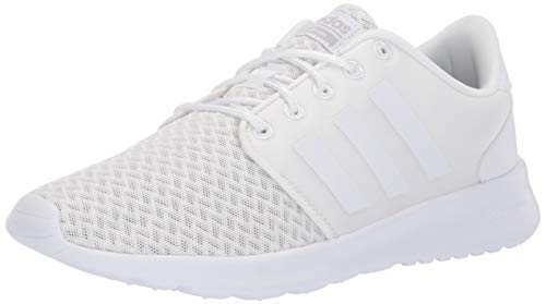 adidas Women's Cloudfoam QT Racer, White/Grey, 7.5 M US