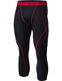Men's Compression 3/4 Capri Shorts Baselayer Cool Dry Sports Tights MUC18/MUC08/P15