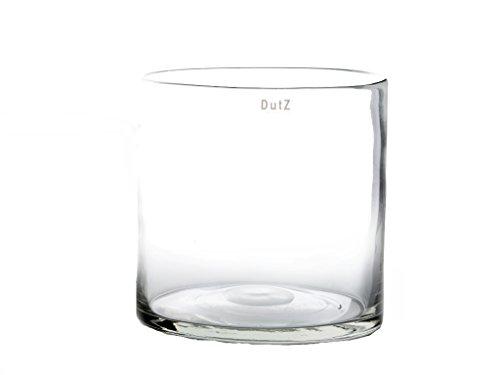 Durchsichtige Vase übertopf Dutz Cylinder H22 D22 Glasvasen Rund