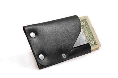 [American Bench Craft Men's Frontier 1 Slim Front Pocket Wallet] (Brass Plated Card Holder)