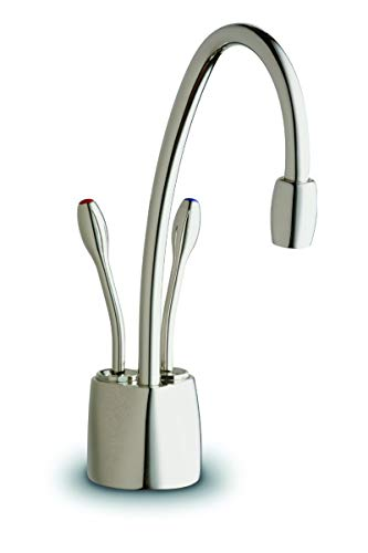 InSinkErator F-HC1100PN Indulge Contemporary Hot and Cold Water Dispenser Faucet, Polished Nickel (Renewed) ()