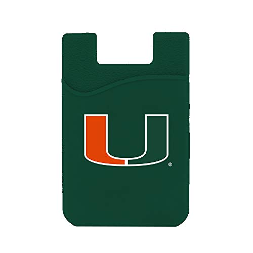 (Guard Dog Card Keeper/Card Holder Silicone Phone Wallet (Miami Hurricanes))
