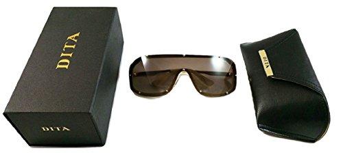 dorada Montura marrón y gradiente sol de Gafas lente con LASER 23004B Dita blanca Y7nXwqTH0