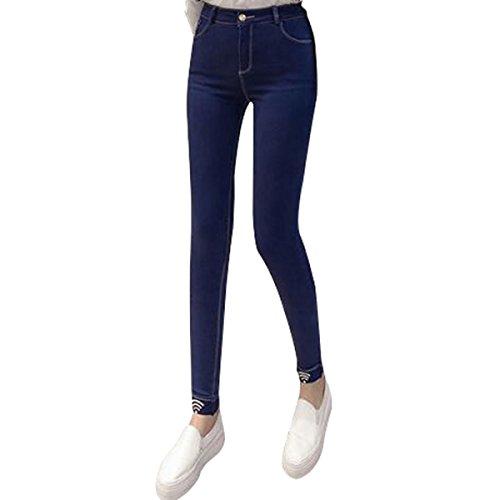 Legg Pantaloni Elastico E Di Giacche Autunno Inverno Darkblue Fang Piede Personalità PROr4nPq