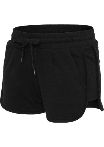 Ladies pile pantaloni Urban Classics Nero LUCE caldo q85Aw6