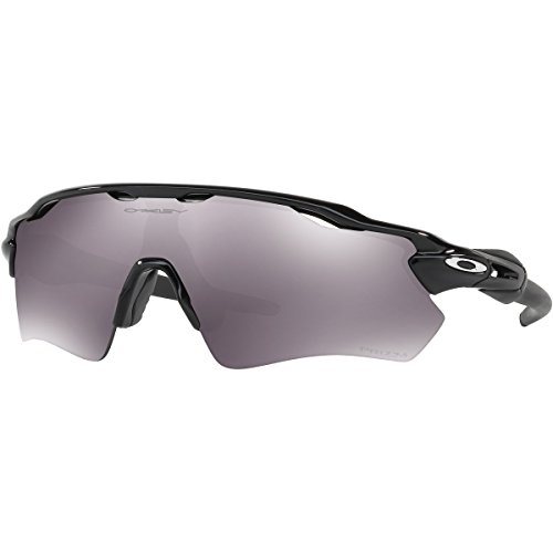 Oakley Men's Radar Ev Path Non-Polarized Iridium Rectangular Sunglasses, Polished Black, 38.02 - Radar Oakley Polarized