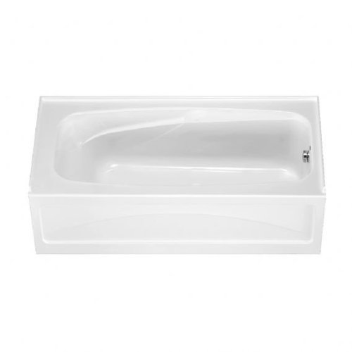 Standard American Acrylic Apron - American Standard 1748.102.020 Colony Bath Tub with Integral Apron and Dual Molded-In Armrests, White