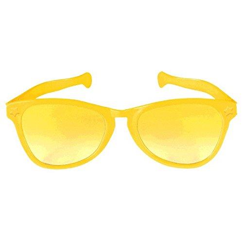 Party Ready Team Spirit Jumbo Glasses Accessory, Yellow, Plastic , - Yellow Sunglasses Amazon Tinted
