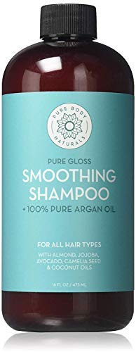 Root Nourishing Therapeutic Shampoo - Argan Oil Shampoo, Hydrate and Restore Hair with 100% Natural Moroccan Argan Oil, Keratin and Biotin, Color Safe, Sulfate Free and Paraben Free by Pure Body Naturals, 16 Ounce (Label Varies)