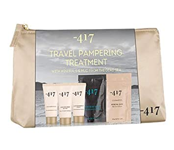 -417 Dead Sea Cosmetics 5 Piece Dead Sea Treatment Kit – Complete Regimen- Relaxation Set with Mineral Bath, Mud Body Wrap, Foot Hand Cream- Perfect Gift Set. Suitable for All Skin Types