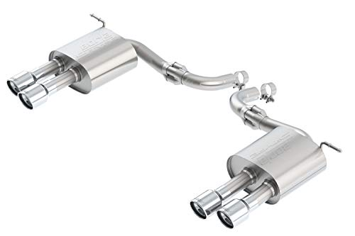 (Borla 11942 S-Type Axle-Back Exhaust System 2.25 in. Incl. Connecting Pipes/Mufflers/Hardware/3.5 in. Dual Round Rolled Angle-Cut Tip Dual Split Rear Exit S-Type Axle-Back Exhaust System)