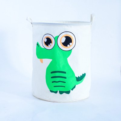 Lqchl Large Laundry Basket Cute Animal Toys Basket For Baby Storage Basket For Toys Fabric Dirty Clothes Basket 40X50Cm Storage Bags,Crocodile