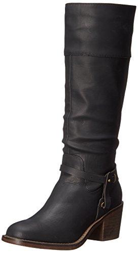 XOXO Frauen MARISA rechtwinklige Spitze Western Stiefel Schwarz