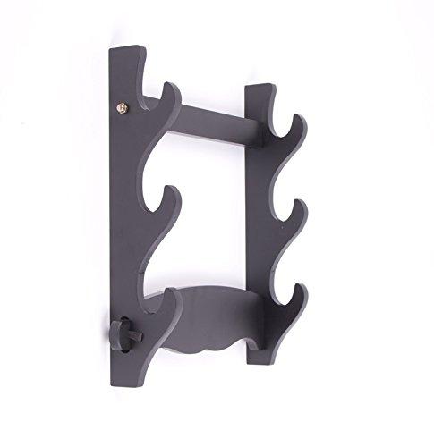 Wall Mount Samurai Sword Katana Holder Stand Hanger Bracket Rack Display 3 Layer BEESS