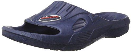 Aqua-Speed - Herren Badeschuhe / Badelatschen mit Anti-Rutsch Sohle blau
