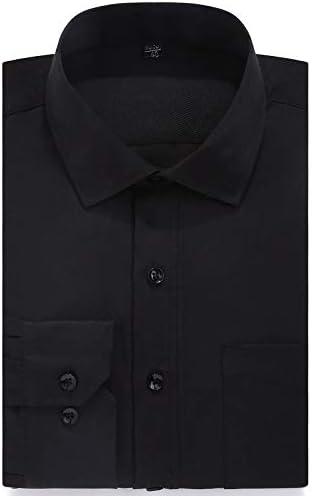 AFASSW Flannel-Camisa De Manga Larga para Plus Size Hombres Visten Camisa De Manga Larga De Nuevo Camisas De Rayas De Gran Tamaño Macho Social 8XL 7XL 6XL 5XL Color Sólido Hombres Ropa: