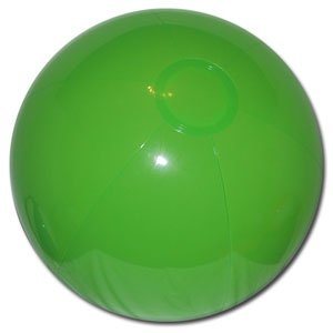 Beachballs - 16'' Solid Lime Green Beach