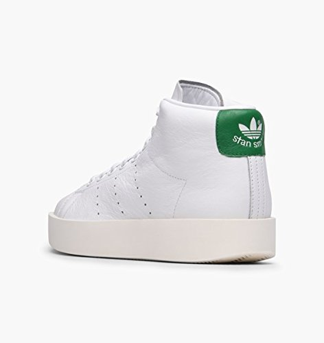 cheaper 267f4 f2760 Amazon.com | adidas Womens Stan Smith Size 6 Bold MID White ...