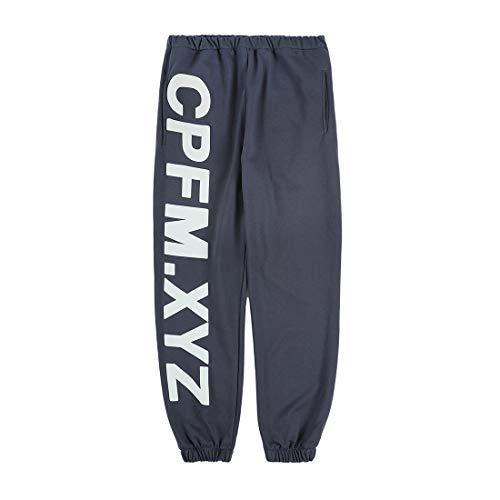 NAGRI Kanye Men's CPFM.XYZ Letter Printed Joggers Yoga Lounge Sweatpants Pockets Retro Hiking Running Trousers Grey