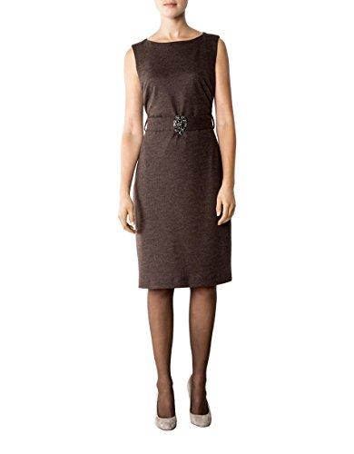 Damen Unifarben 40 Daniel Dress Kleid Braun Hechter Größe Schurwollmix Farbe Fxwx6q5U1