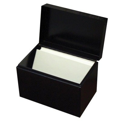 Buddy Products Steel Card File Box with Hinged Lid Holds Approximately 400 4 x 6 Cards, ()