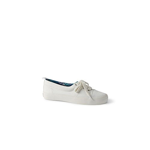 Lands' End Canvas Women's Lace-up Sneakers, 8.5, White