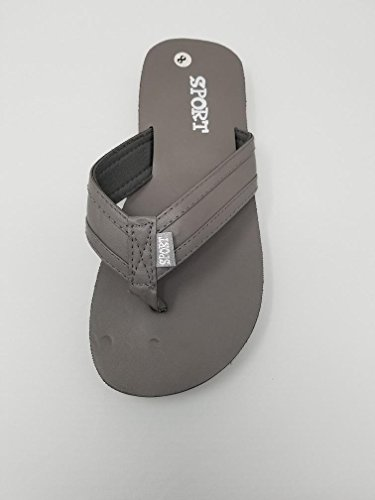 Ameta Mens Sport Leatherette Slip On Beach Flip Flop Slippers Sandals Grey 3uPlON0IS