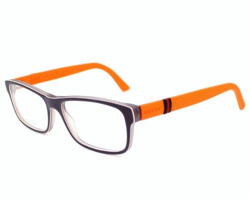 Gucci eyeglasses GG 1066 4UT Acetate Grey - Orange