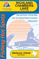 Richland Chambers Lake Fishing Map (Texas Lake Series, (Fishing Hot Spots Map)