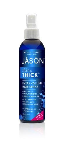 Jason Natural Cosmetics - Thin To Thick Body Building Hair Spray, 8 fl oz spray (Natural Jason Hair Products)