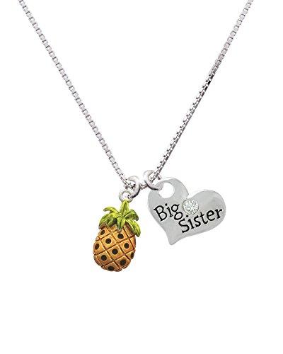Delight Jewelry Enamel Pineapple - Big Sister Heart Necklace